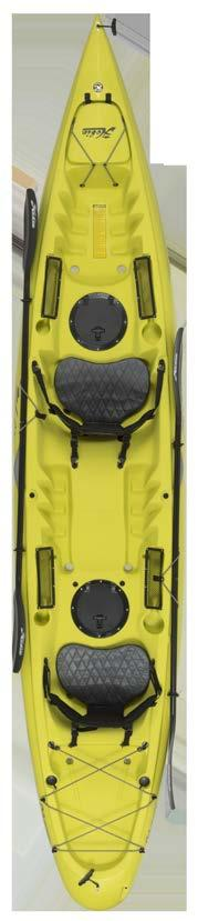 foot braces and a super-comfy CT Vantage seat Covered bow stowage, molded-in rod holders and a generous stern cargo area Optional tackle and crate systems to a Hobie Livewell Hobie s swiftest solo