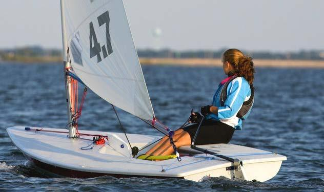 A smaller sail makes it more manageable for lighter and younger sailors.