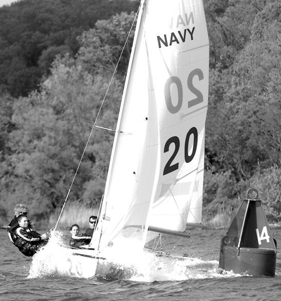 The Navy Intercollegiate sailing team will sail in over 60 collegiate and onedesign regattas during the 12-week fall and 12-week spring seasons each year.