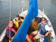 Many were from our regular Sunfish weekly sailing group and signed up in advance to help.