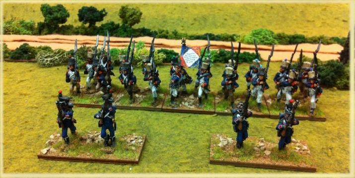 The charge is then works out versus the formed unit or fights as skirmisher in woods.