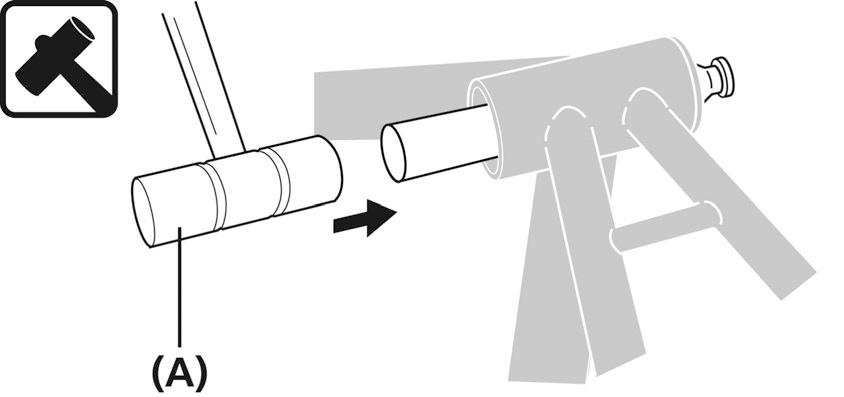 As shown in the illustration, hold down the flap with your fingers and push it in from the opposite side.