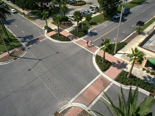 9 Curb Extension/Bulb Outs Description: Also known as a pedestrian bulbout, this traffic-calming measure is meant to increase the pedestrian space, driver awareness of pedestrians and has also been