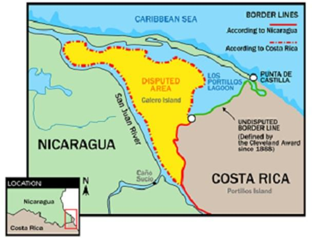 21 Update on the Nicaragua Border Dispute A couple of years ago, Raphia featured the story below, which outlines a brief history of border disputes between Costa Rica and Nicaragua.