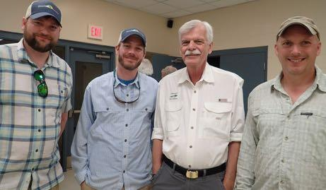 David Folkerts, PHWFF Chief Operations Officer; Daniel Morgan, Director of Communications; and Ira Strouse, retired paratrooper and now Co- Area coordinator, just finished an organizational PHWFF
