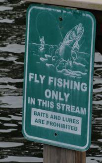 Question and Answers of the Month for Suncoast Fly Fishers Many states post Fly Fishing Only signs on streams and lakes to protect fish populations. Is that a good thing?