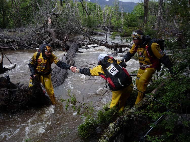 ) Some later teams found themselves on the wrong side of a river and made a perilous crossing and all were amazed at how difficult and slow the trekking was.