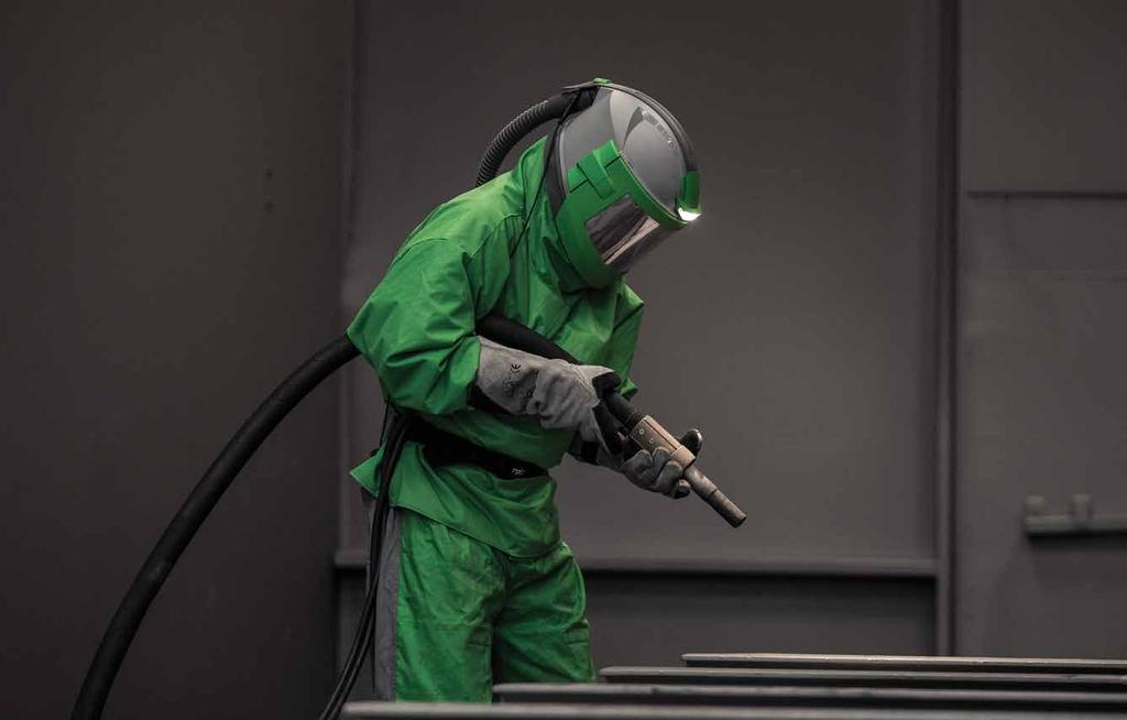 RPB ABRASIVE BLASTING RANGE Founded as a protective equipment