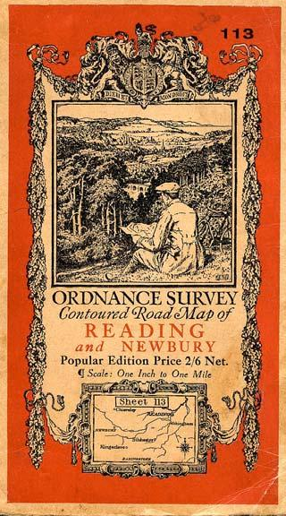 For many years the cover of the Ordnance Survey Popular Edition maps precursors of Landranger maps - showed a cyclist studying the landscape with his map, while their main competitors, the Barts