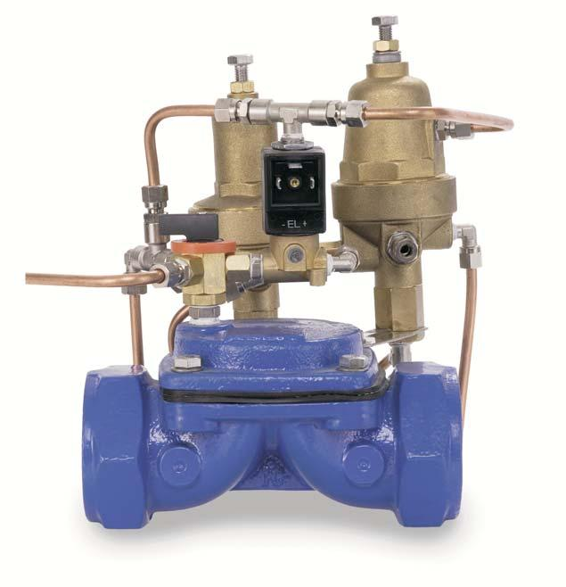 Types of valves: VM valve wit solenoid Te VM solenoid valve or electro valve operates wit an on/off functioning. Te valve works fully opened or closed wen te solenoid acts upon it.