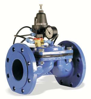 Also sustains te entry pressure to a predetermined value. VM pressure reducing valve (VM/RP) Tis valve sustains a constant value and output pressure by means of a valve governing pilot.