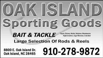 Saltwater Fishing Reports Brunswick County Oak Island & Southport Will, from Oak Island Sporting Goods reports that fishing is still producing some very nice multiple catch days for the last few