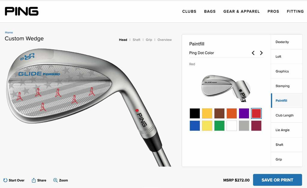 GLIDE FORGED WEDGE CUSTOMIZE & PERSONALIZE GLIDE FORGED WEDGE PROGRAM Four custom graphics and stamping available Access via ping.