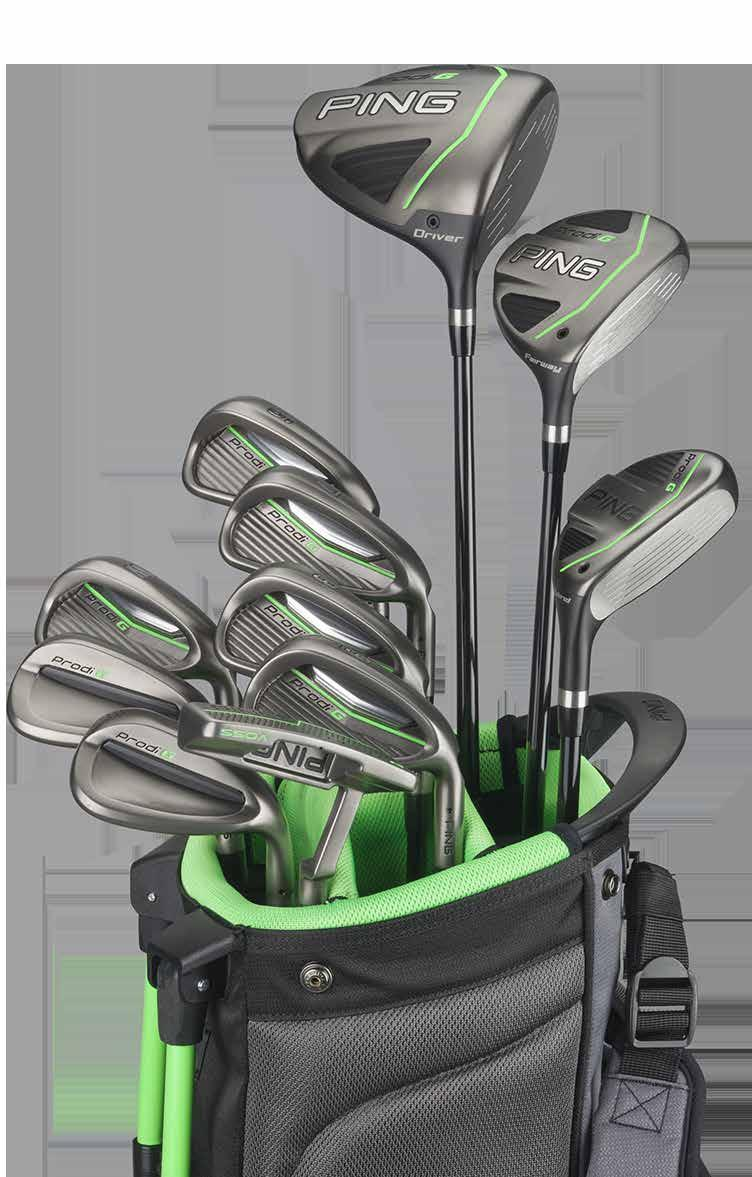 PRODI G JUNIOR CLUBS A FITTING INVESTMENT Optimized For Ages 7-13 As junior golfers grow, so does the need to ensure they are properly fit to their equipment.