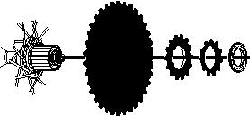 Installation of the sprockets For each sprocket, the surface that has the group mark should face outward and be positioned so that the triangle (U) mark on each sprocket and the A part (where the