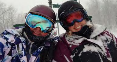 Sweeping as usual - Sylvia AS THE SKI TURNS Jeff Kenton OC Snowsports School Sunday, February 24 at Bromley & Sunday, March 24 at