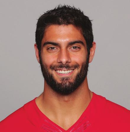10 JIMMY GAROPPOLO 6-2 225 EASTERN ILLINOIS AWARDS & HONORS 2017: FedEx Air Player of the Week (Week 15), Castrol EDGE Clutch Performer of the Week (Week 15 & Week 16) 2018 HIGHLIGHTS Completed 18 of