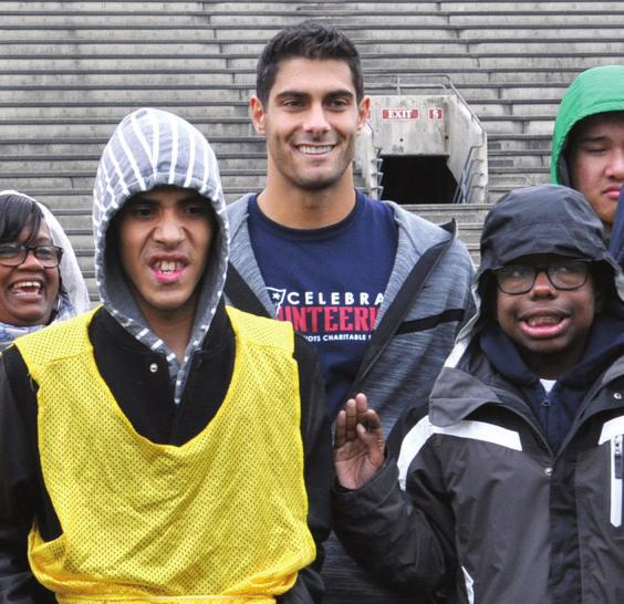 practice. Garoppolo has quickly become integrated with the Bay Area and its sports franchises.