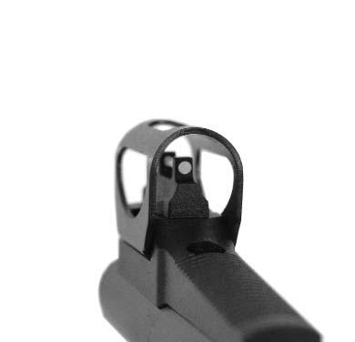 a To adjust the elevation of the sight, move the rear sight by slightly loosening the screw (illustration 10.b).