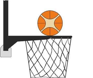 the backboard or the ring to vibrate and therefore, in the judgment of the official, the ball is prevented from entering the basket.