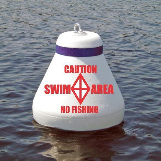 Next week WOLA is placing three large floating CAUTION buoys on the outside borders of the WOLA beach designated swimming area.
