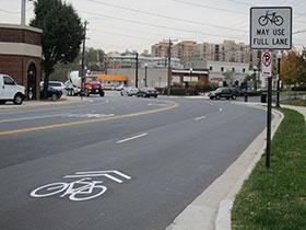 Bicycle boulevards use signs, pavement markings, intersection treatments, trail connections and speed management measures to enhance the safety, comfort and continuity of bicycling on the street.