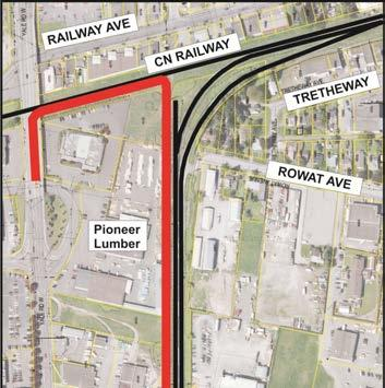 PROPOSED RAIL TRAIL DETAIL The northern section crossing Highway