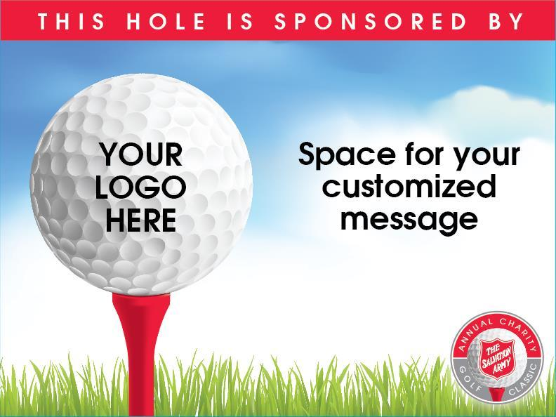 Sponsorship Signs Options for customized