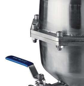 Technical features and benefits Lower body in AISI 3 designed with strongly sloped walls to avoid grease and/or other