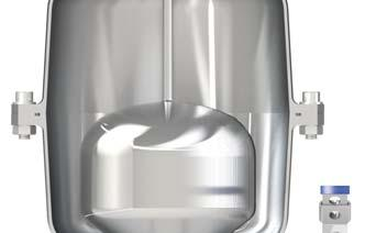 Air release during working conditions During operation the air produced by the pipeline is accumulated in the upper part.