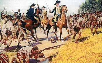 Tarleton formed his infantry line and began the advance; the Light Infantry on the right, the infantry of his legion in the centre and the 7th Royal Fusiliers on the left.