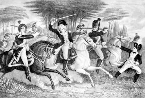 Colonel Washington and his dragoons attacking the British Light Dragoons Casualties: The British lost 39 officers and 60 soldiers killed. 829 were captured. 12 Americans were killed and 60 wounded.