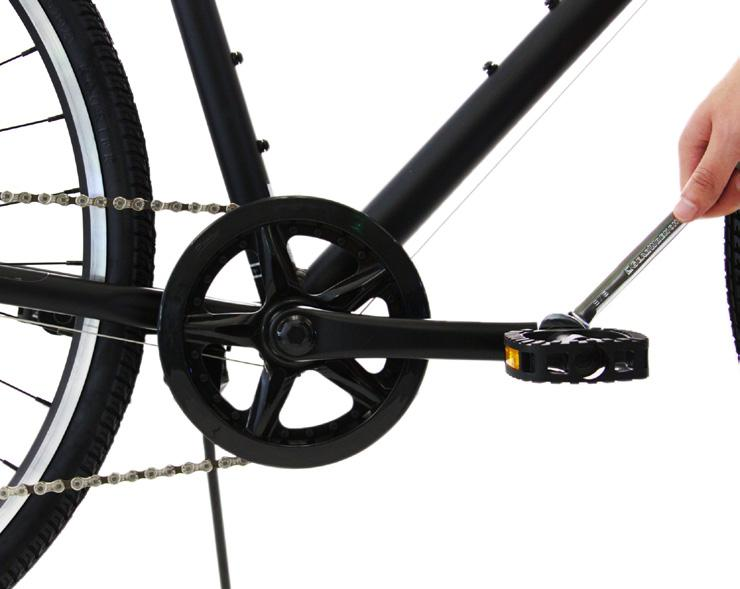 10 BICYCLE OR AUTO GREASE MULTI-TOOL PEDALS Apply grease to threading on both pedals.
