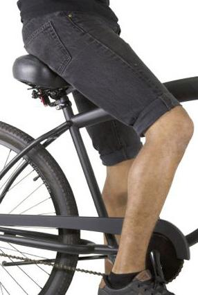 Sit on the bike and check the angle formed by your knee.