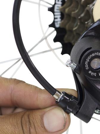 If it doesn t shift from 7th to 6th gear in one click, then the cable needs to be tightened.