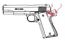 Zenith Firearms Come Shoot the Quality 5. OVERVIEW OF SAFETY MECHANISMS Your Tisas pistol is equipped with a grip safety.