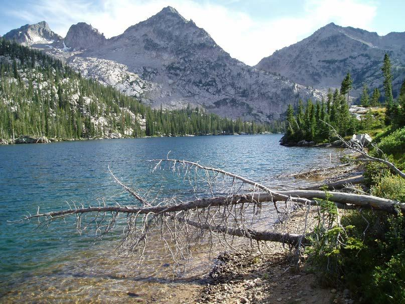 We saw a few fish jump in Bow Knot Lake but we decided to keep hiking because we had been delayed with a rain and hail storm.