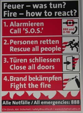 WHAT DO YOU DO IN CASE OF FIRE?