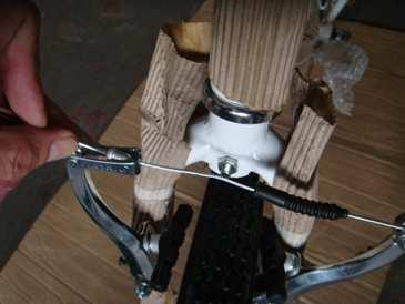 your handbrake levers Your bike has front and rear hand brake