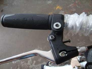 When your handlebars are properly set up, adjust the angle of the