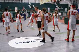 (Photo #5: Backboards - Venue ) The clinic will be conducted in one session on the center courts at Jenison Field House.