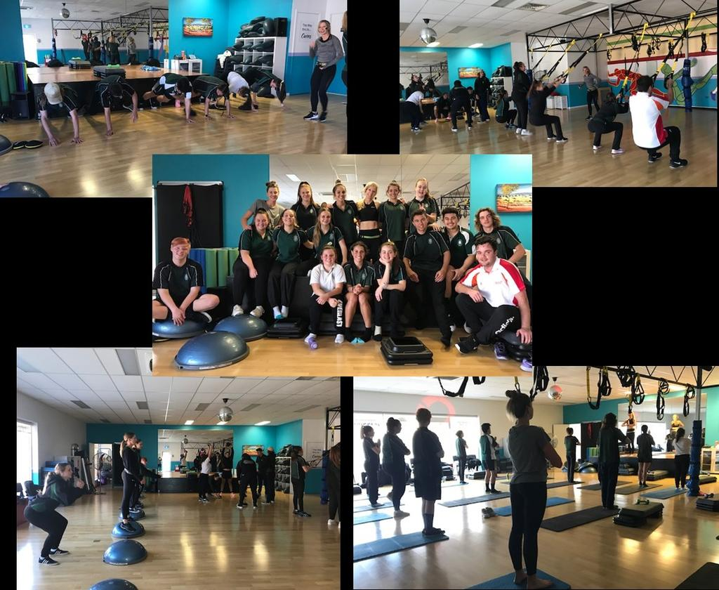 On Friday the 1 st of June, 14 students from Year 11 SLR, Year 10 Dance and Big Picture attended an exercise class as part of their Fitness units.