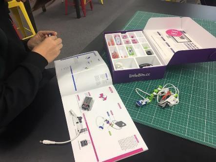 Year 8 STEM exploring circuit inputs and outputs using Littlebits!