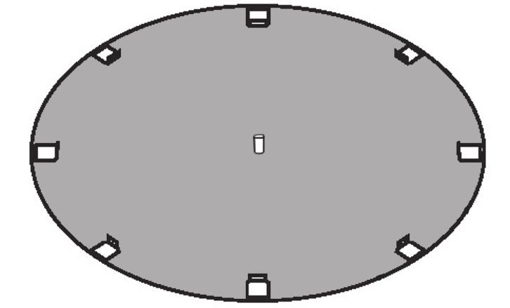 2 1. Lay out bottom plates ASSEMBLING THE POOL BASE A. LAY OUT THE BOTTOM PLATES AND BOTTOM RAILS a. Place the bottom plates equally spaced around the perimeter of your foundation.