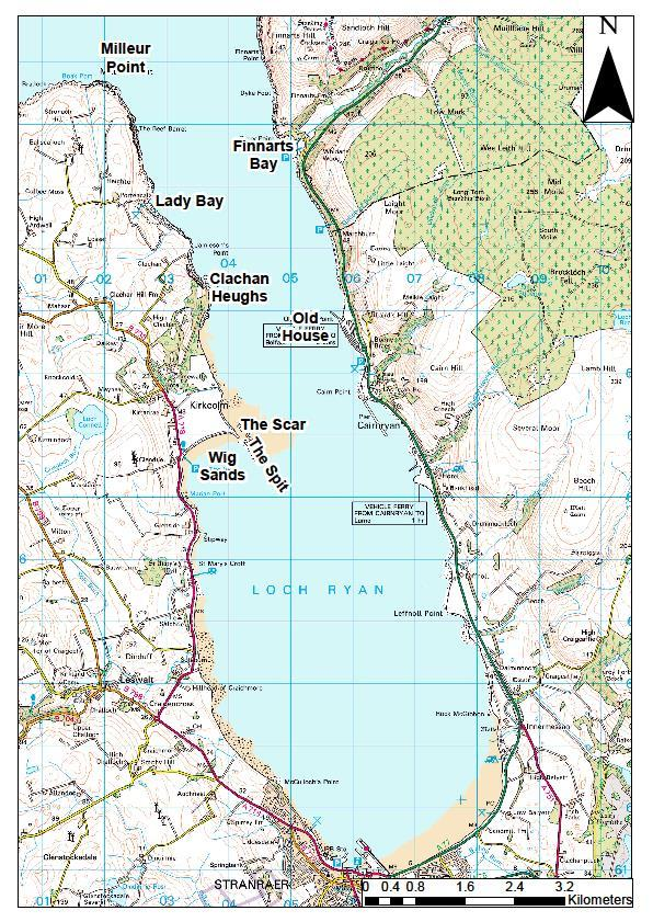6. Loch Ryan 6.1 General overview Loch Ryan is the most southerly located Scottish sea loch, found on the west coast of Scotland at the southern entrance to the Firth of Clyde.