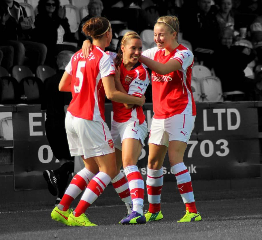 THE ACADEMY The Arsenal Ladies Development Squad recruits talented female players between the ages of 16 and 19.