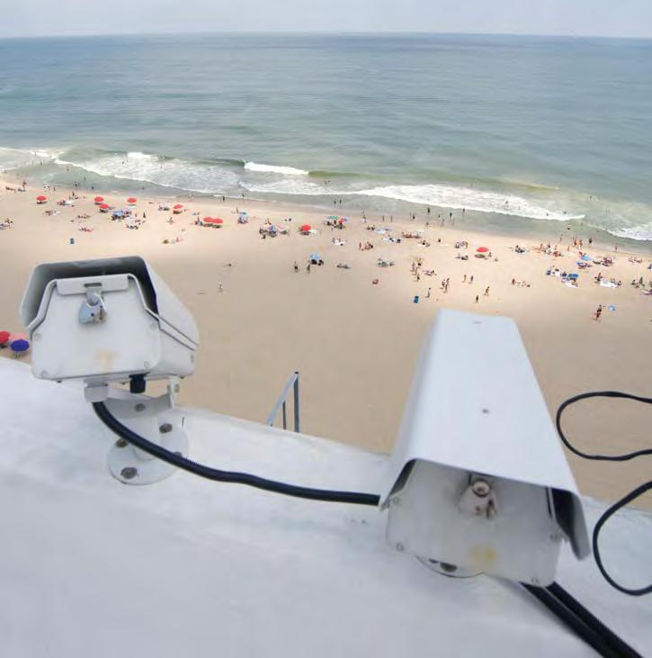 Eyes in the skies, these cameras watch the beach from the rooftop at the Grand Stowaway Hotel at 21st street in Ocean City.