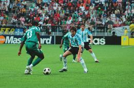 final minutes. Messi also proved lethal against Nigeria in the final, where he scored twice from the penalty spot to beat Nigeria 2-1.