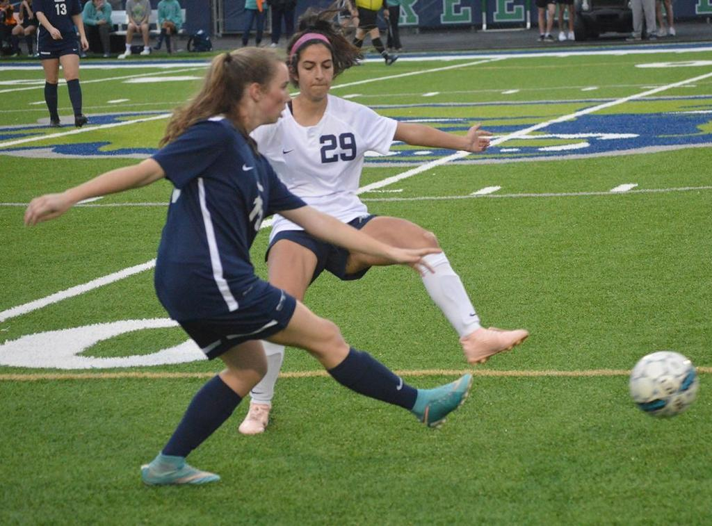 The Lady Knights also had some shots on goal and almost tied it up in the last seconds of the