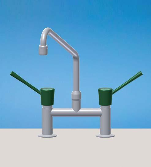 MIXER TAPS BENCH MOUNTED 34O 325 H 35 max 2OO 2 Flexibles SWIVEL SWANNECK, COMPRESSION WATER 115 WITH AERATOR H=2 mm